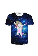 T shirt Licorne Galaxie Cosmique