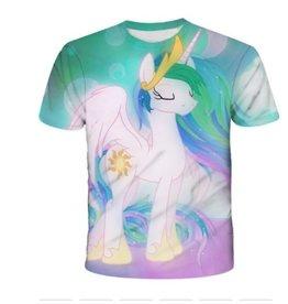 T-Shirt Licorne Princesse Blanche