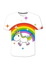 T-shirt Licorne sur Arc-en-Ciel