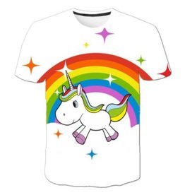 Unicorn on Rainbow T-Shirt
