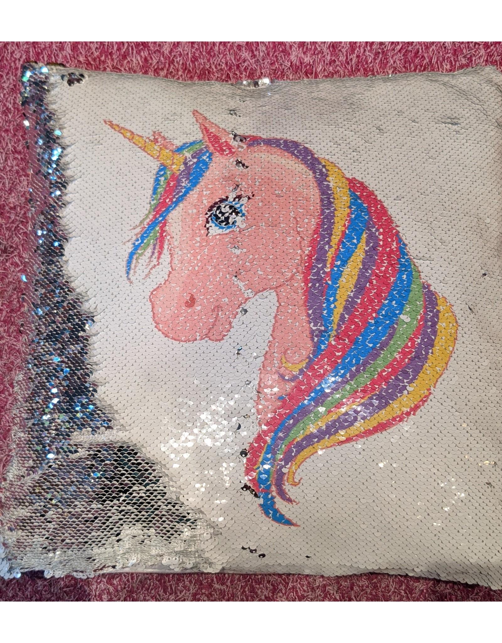 Strass Unicorn Rainbow Mane Pillow