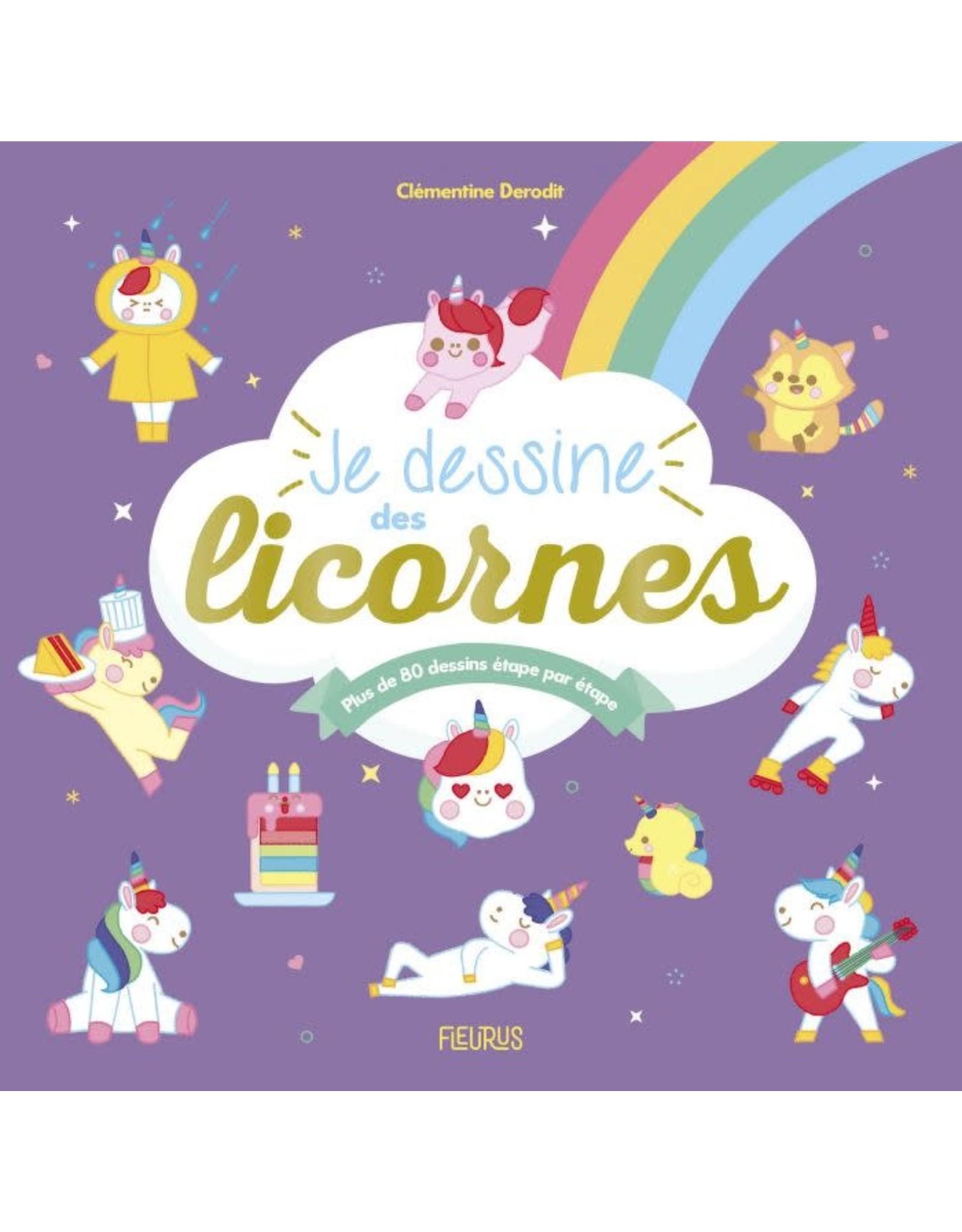 Livre pour apprendre à dessiner Je dessine des licornes