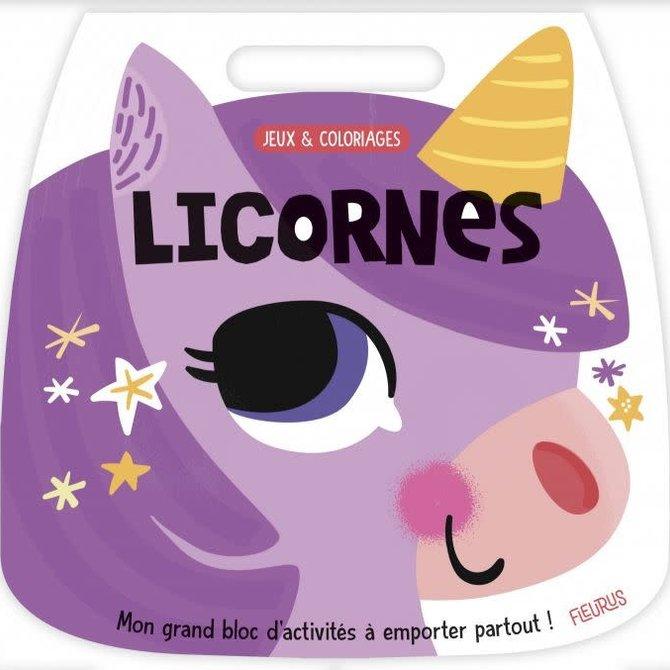 La Licornerie Unicorn Colouring and Games Book