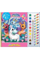 Mon grand livre à peindre et à colorier : Les amis des licornes