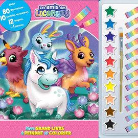 La Licornerie Mon grand livre à peindre et à colorier : Les amis des licornes