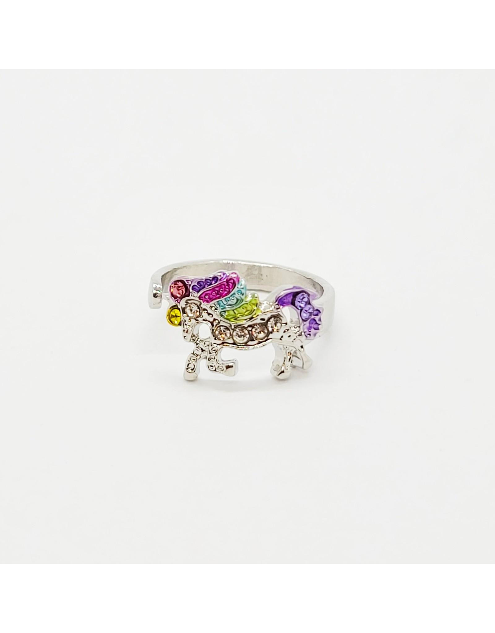 Adjustable Iron Unicorn Ring