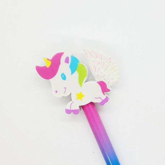 La Licornerie Winged Unicorn Pencil and Eraser