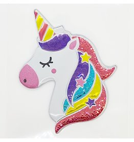 Grand auto-collant Licorne festive