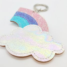 Glittery Rainbow Keychain