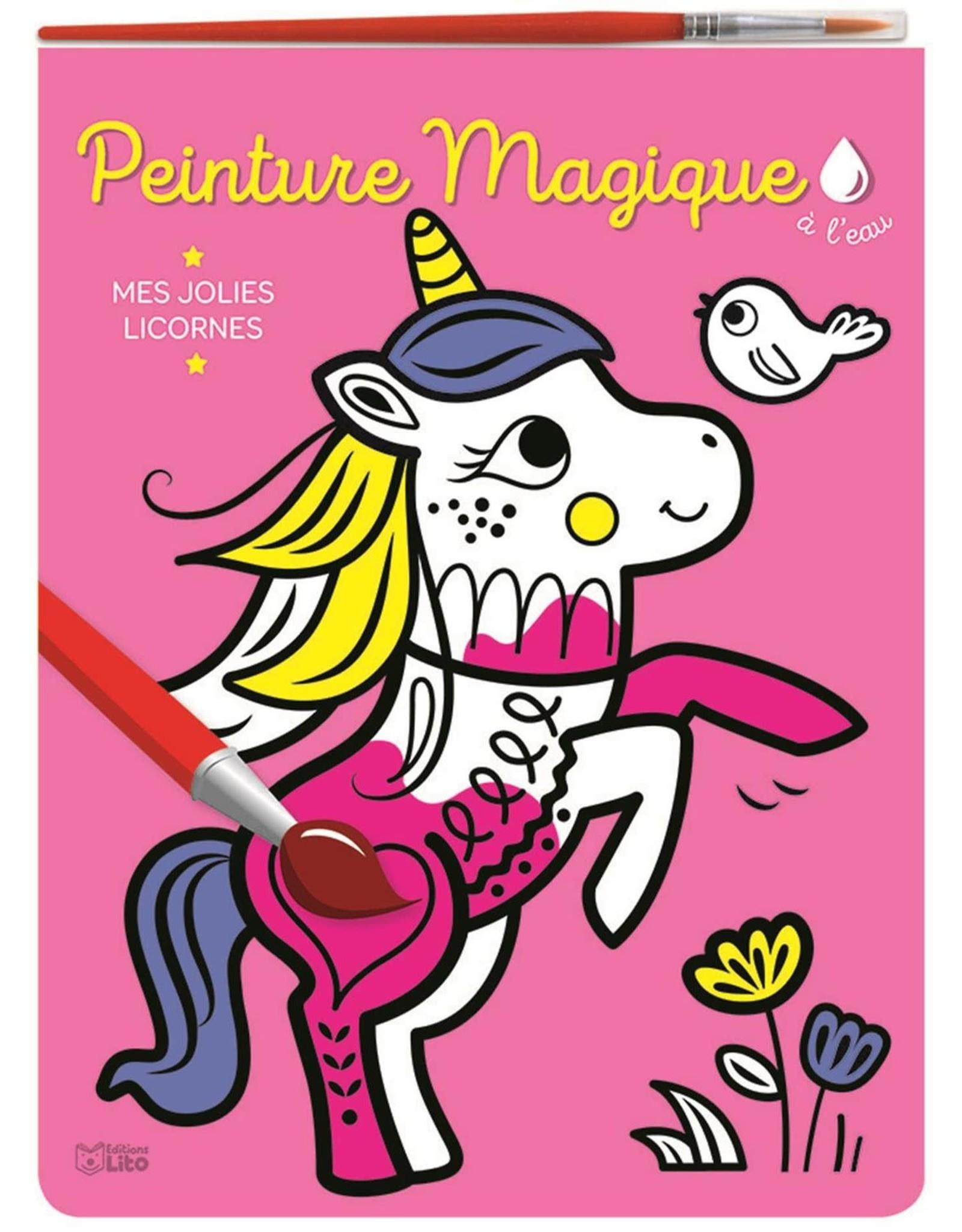 Livre à peinturer Peinture Magique Mes jolies licornes