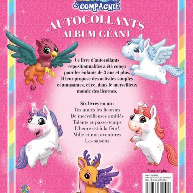 La Licornerie Livre Licornes et Compagnie (Album de 350 autocollants géants)