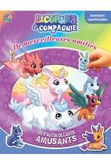 Livre d'autocollants Licornes et compagnie : Merveilleuses amitiés