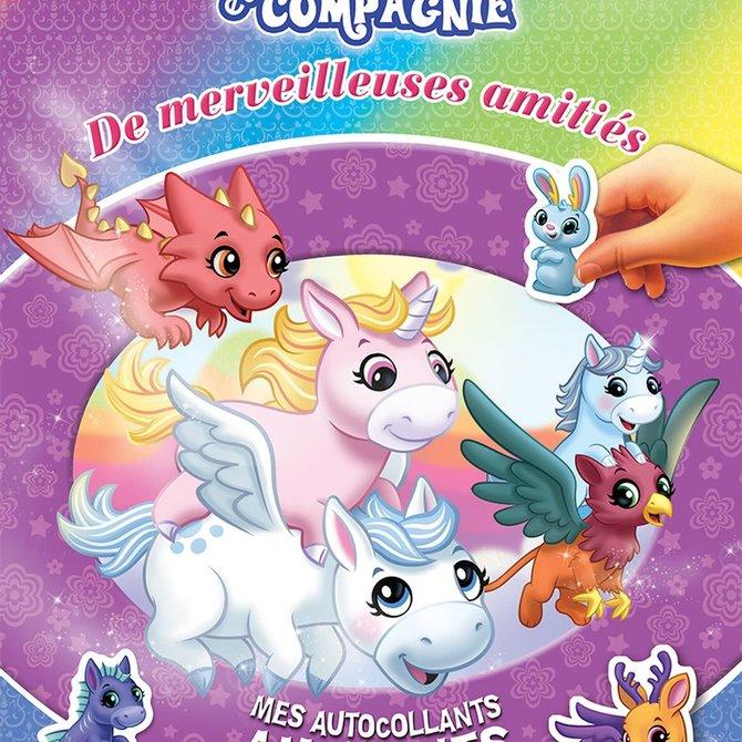 La Licornerie Livre d'autocollants Licornes et compagnie : Merveilleuses amitiés
