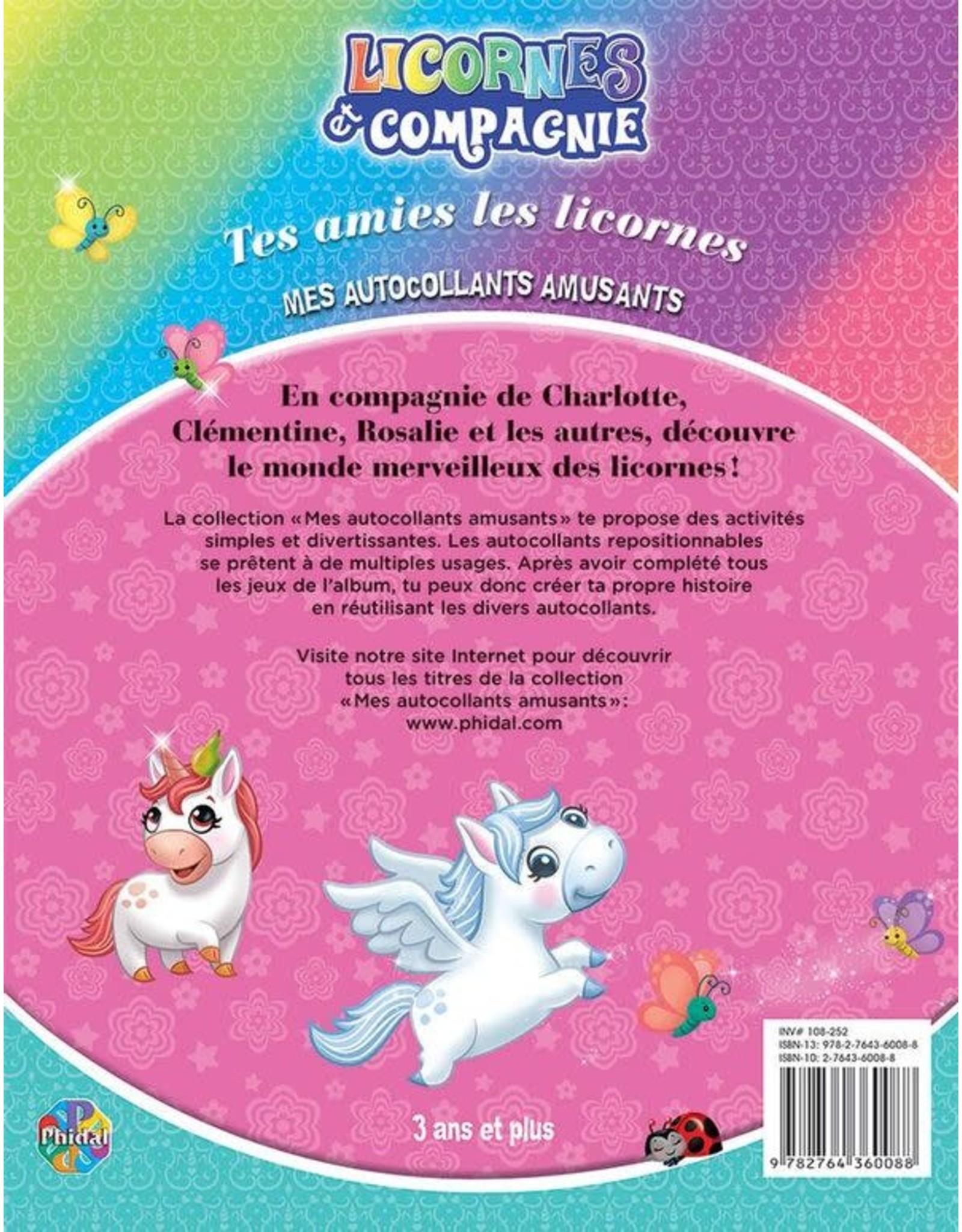 Livre d'autocollants Licornes et compagnie : Tes amies les licornes