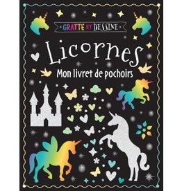 Livre à gratter et à dessiner : Licornes