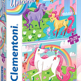 La Licornerie I believe In Unicorns 2 Jigsaw puzzles 20 pieces