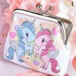 La Licornerie Blue and Pink Unicorn Coin Purse