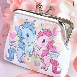 La Licornerie Blue and Pink Unicorn Coin Purse