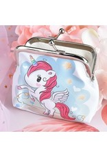Blue and Pink Unicorn Coin Purse