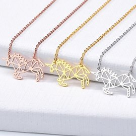 Small Geometric Unicorn Necklace