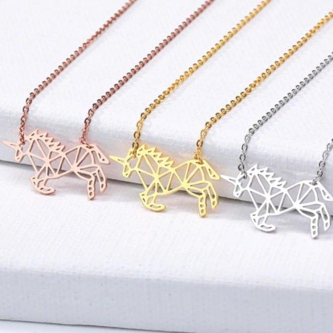 La Licornerie Small Geometric Unicorn Necklace