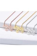 Small Geometric Unicorn Necklace