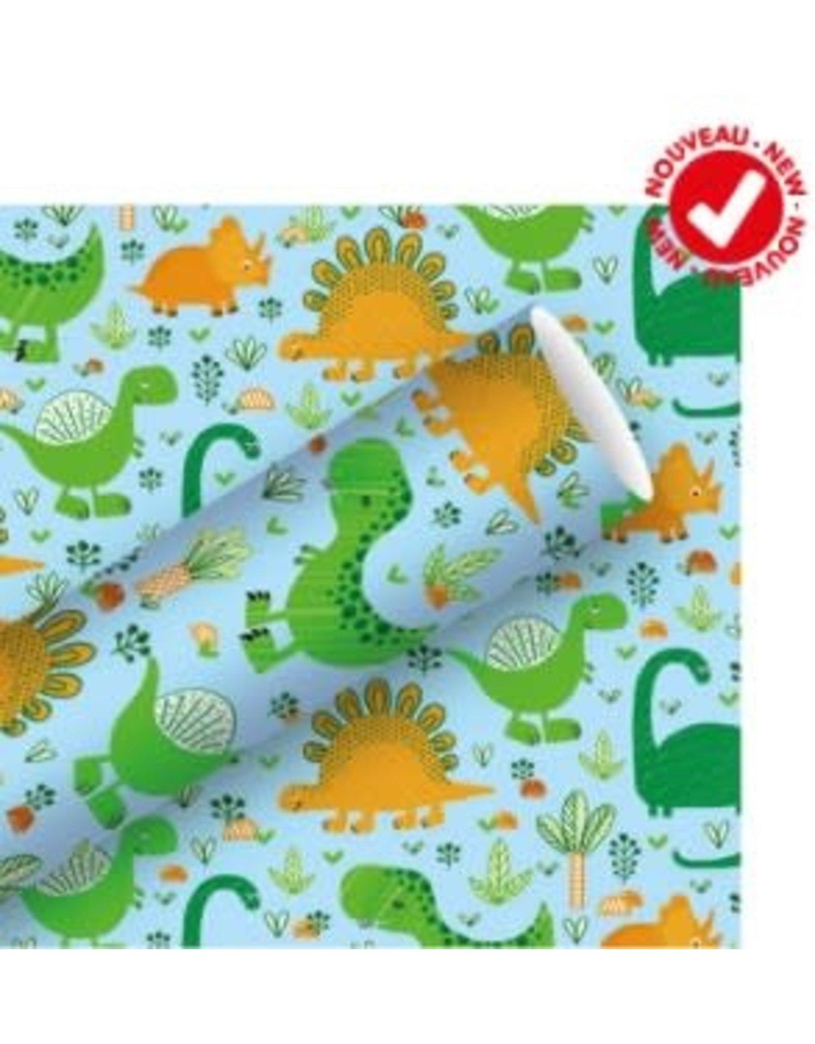 Rouleau de papier d'emballage Dinosaures