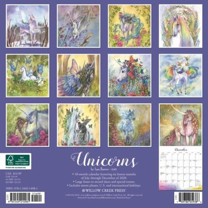 La Licornerie 2021 Unicorn Calendar (18 months!) by Sara Burrier