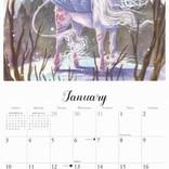 Calendrier 2021 Licornes par Sara Burrier