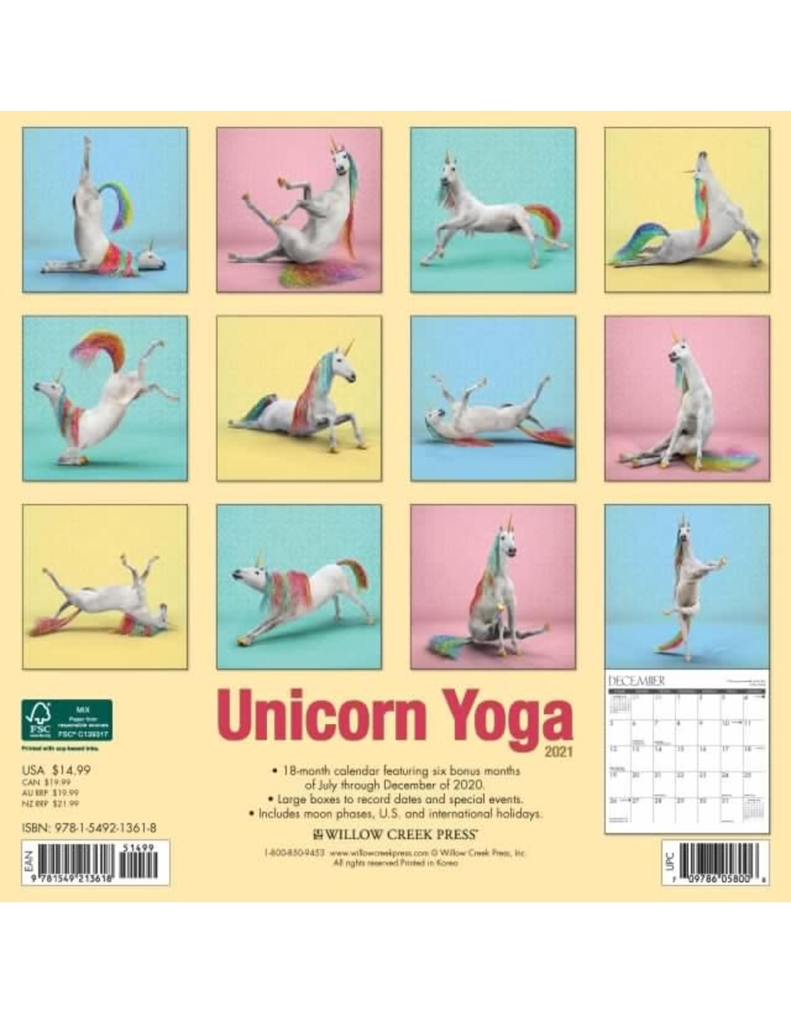 Calendrier 2021 (18 mois) Yoga
