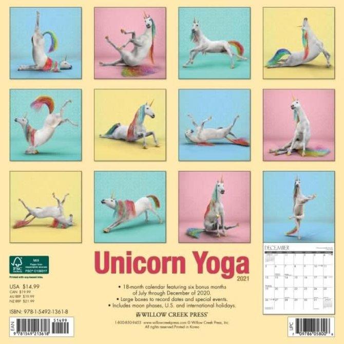 La Licornerie 2021 Calendar Unicorn Yoga (18 months!)