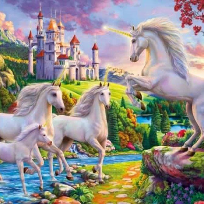 La Licornerie Casse-tête 1000 morceaux Licornes et Château
