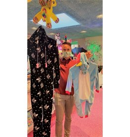 La Licornerie Pyjama pour adulte licorne noire TAILLE UNIQUE