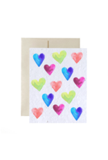 La Licornerie ♥♥ Plantable (really) eco-conscious card with hearts