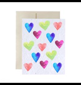 La Licornerie ♥♥ Carte (très) éco-responsable ensemencée Coeurs