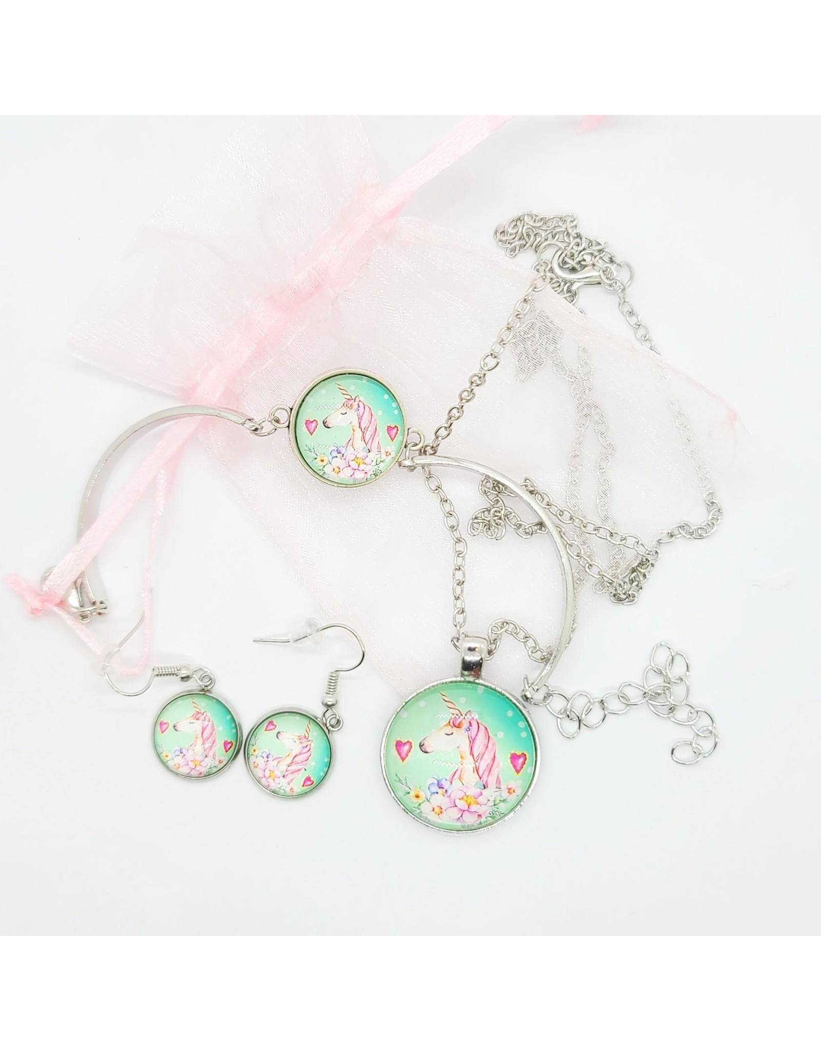 La Licornerie Ensemble collier,boucle d'oreilles et bracelet