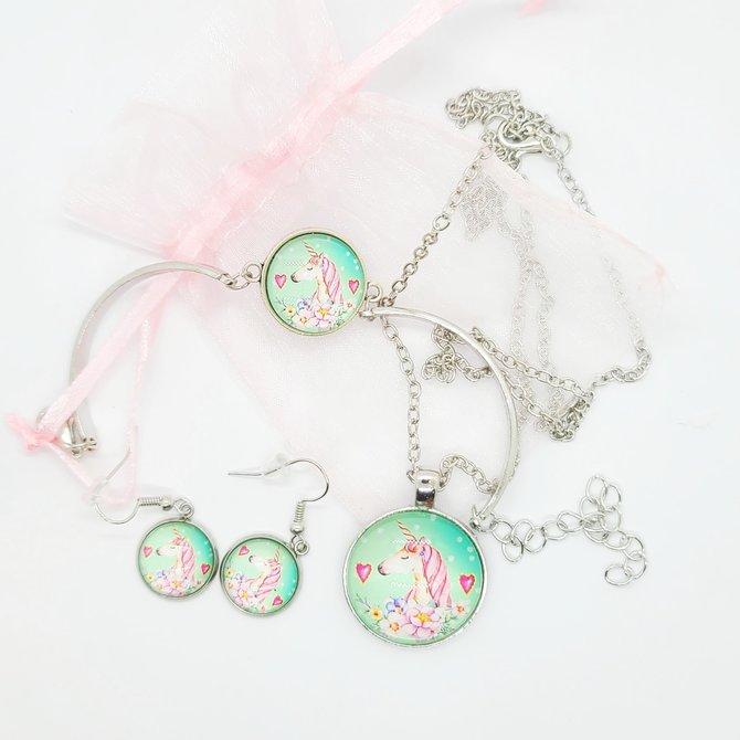 La Licornerie Ensemble collier, boucles d'oreilles et bracelet