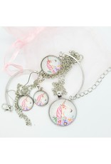 La Licornerie Necklace, Earrings and Bracelet Unicorn Set