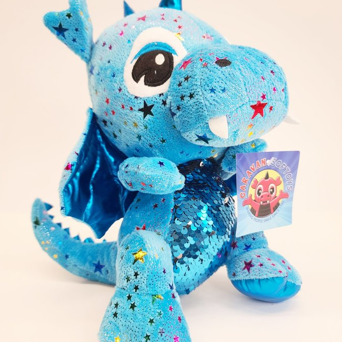Caravan Softoys ♥♥ Toutou petit Dragon Étoiles couleurs éclatantes