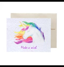 La Licornerie ♥♥ Carte (très) éco-responsable ensemencée Unicorn Make a Wish
