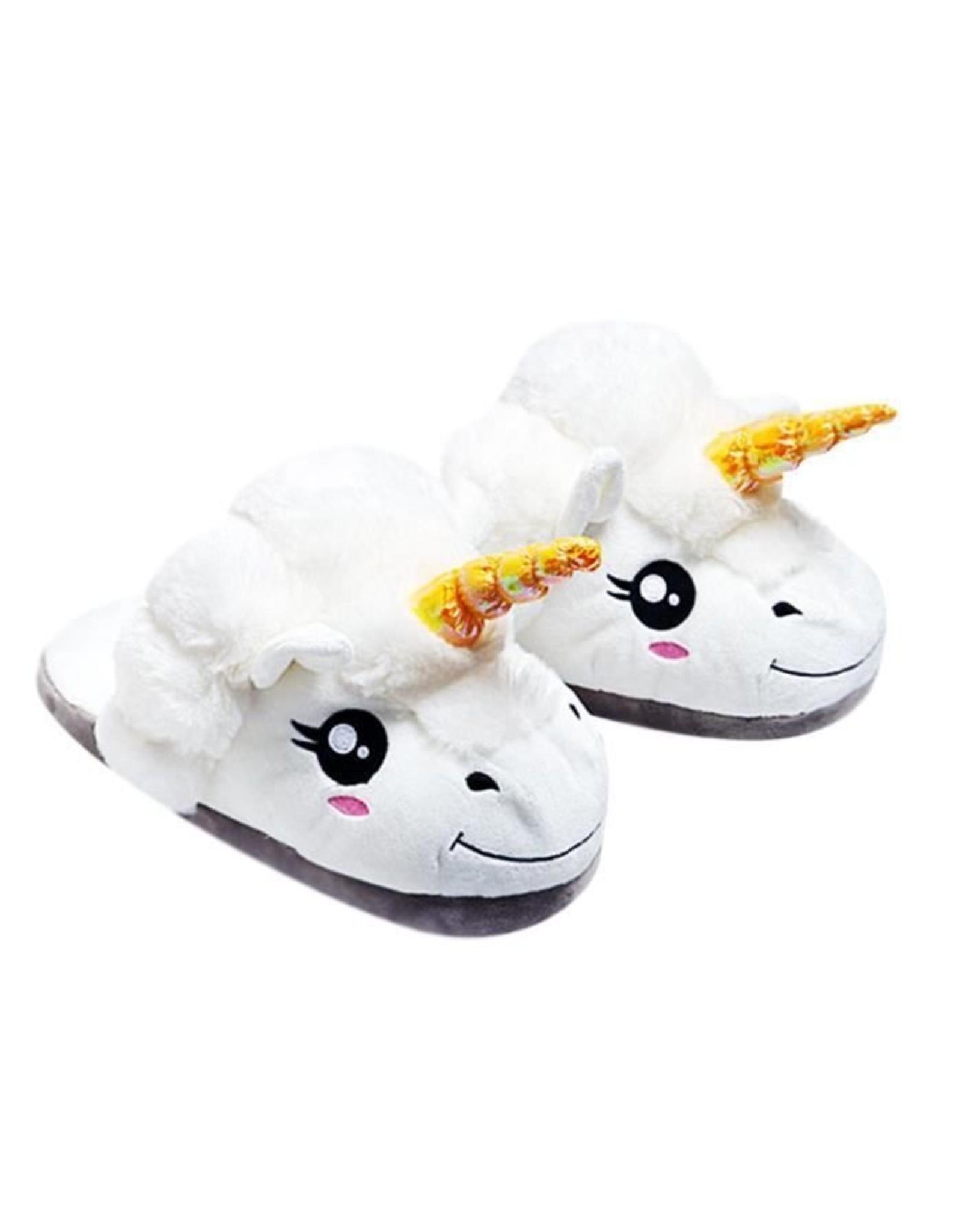 Unicorn fluffy slippers for kids