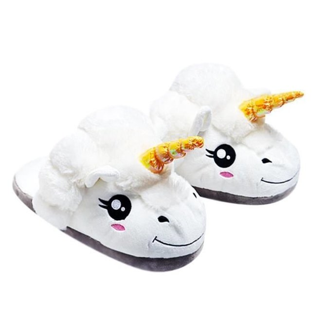 La Licornerie Paire de pantoufles en peluche pour enfants