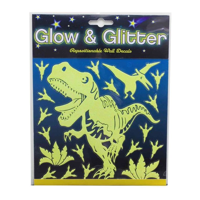 La Licornerie Décalque Dinosaures collants muraux qui brillent dans le noir