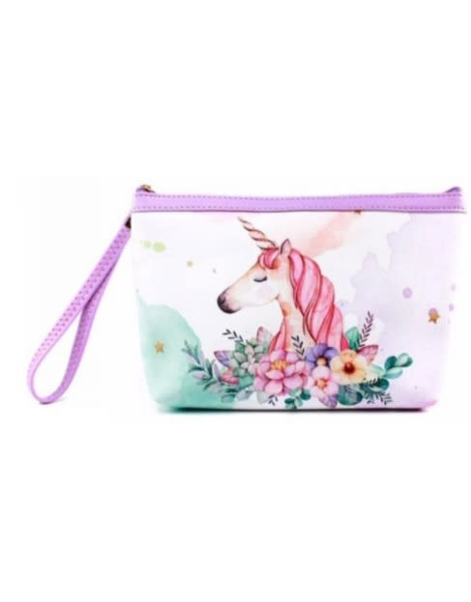 Unicorn with Flower Pouch