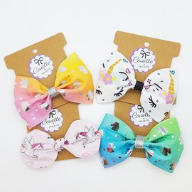 ♥♥ Unicorn Bowtie Hair Elastic