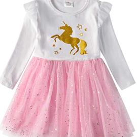 La Licornerie Robe blanche et rose a tutu avec licorne doré (3-4ans)