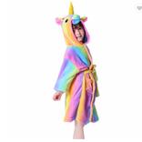 Robe de chambre licornesque pour enfants