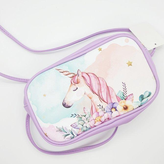 Unicorn leather purse
