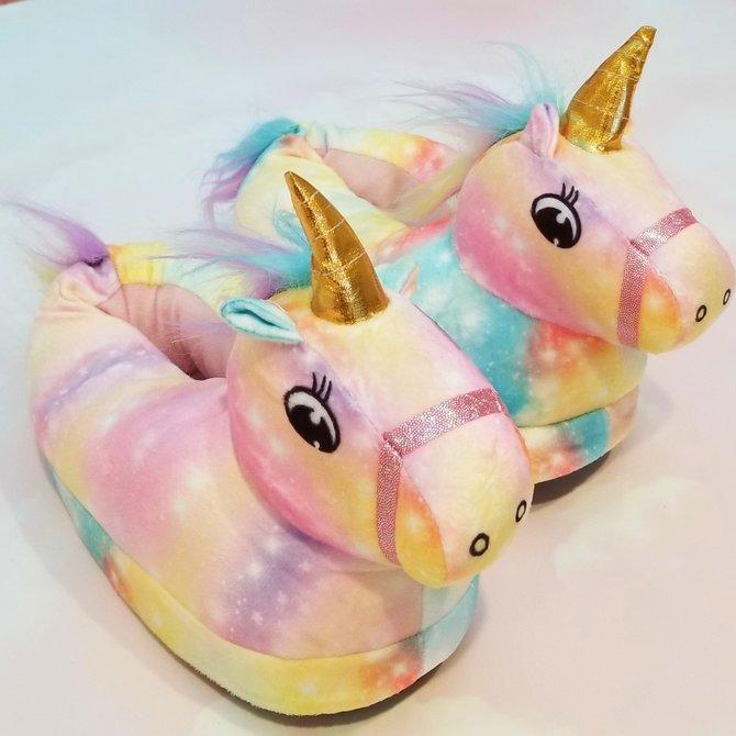 La Licornerie Paire de pantoufles licornesques