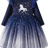 La Licornerie Robe licorne étoilée marine (18-24 mois)